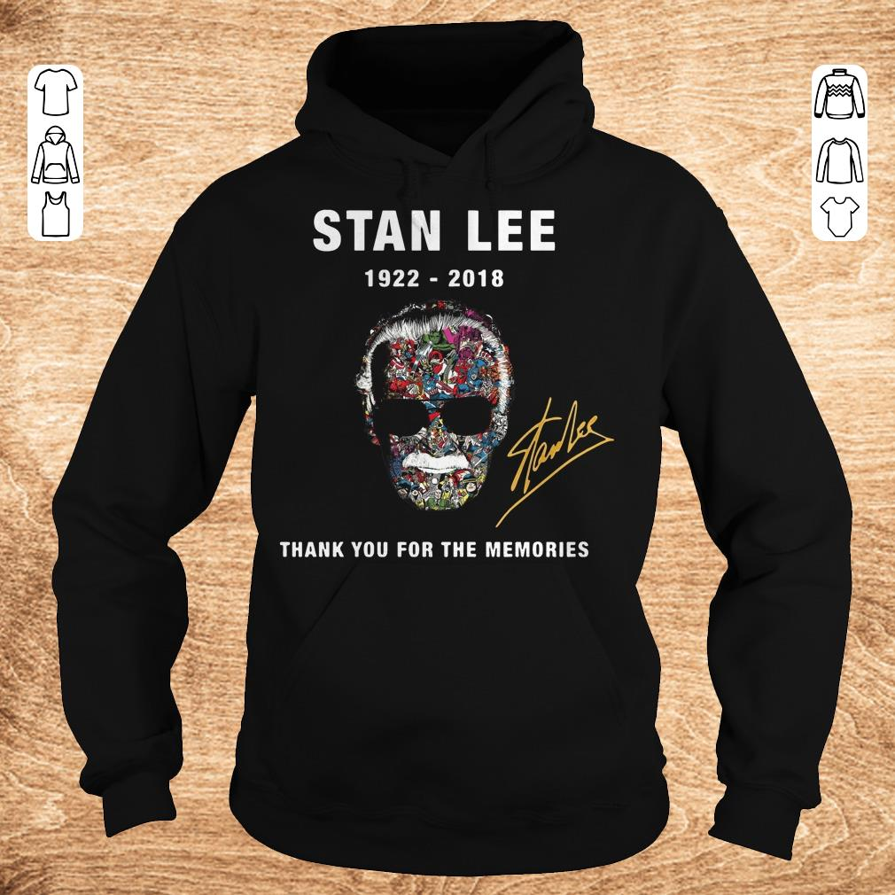 Premium Stan Lee thank you for the memories Shirt sweater Hoodie - Premium Stan Lee thank you for the memories Shirt sweater