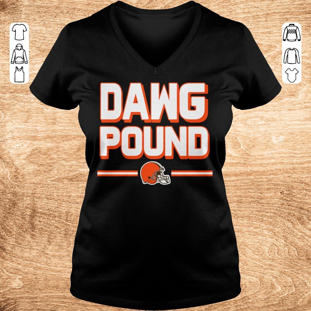 Premium l Cleveland Dawg Pound shirt Ladies V Neck - Premium l Cleveland Dawg Pound shirt