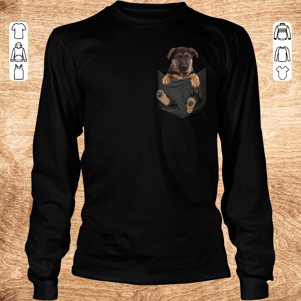 Pretty German Shepherd Baby Dog In Tiny Pocket Shirt Sweater Longsleeve Tee Unisex.jpg