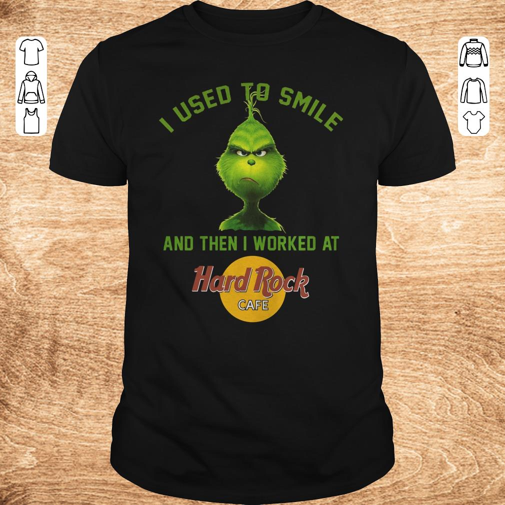 Pretty Grinch I used to smile and then i worked at Hard Rock cafe shirt Classic Guys Unisex Tee - Pretty Grinch I used to smile and then i worked at Hard Rock cafe shirt