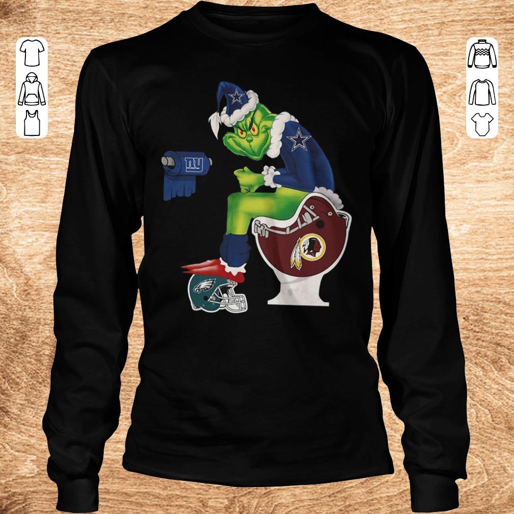 Top Grinch Santa Dallas Cowboys Washington Redskins Toilet Shirt Sweater Longsleeve Tee Unisex.jpg