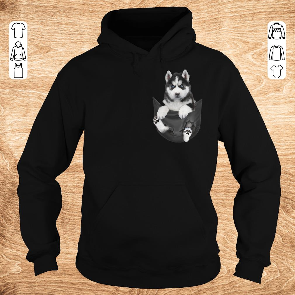 Top Husky Tiny Pocket shirt hoodie Hoodie - Top Husky Tiny Pocket shirt hoodie