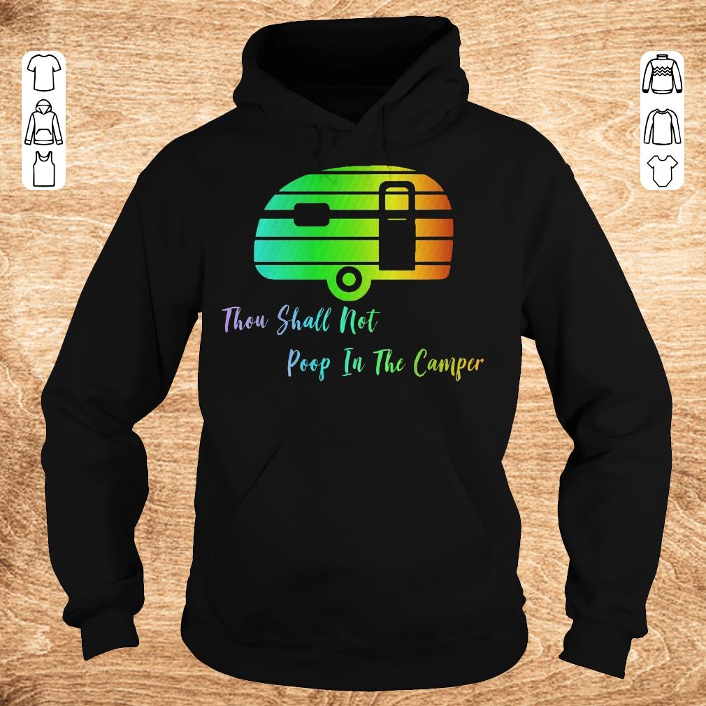 Top Thou shall not poop in the camper shirt Hoodie - Top Thou shall not poop in the camper shirt