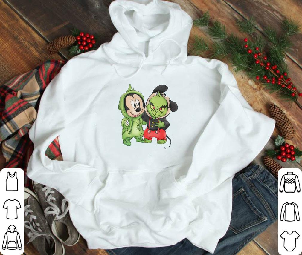 Top Grinch and Mickey Mouse shirt