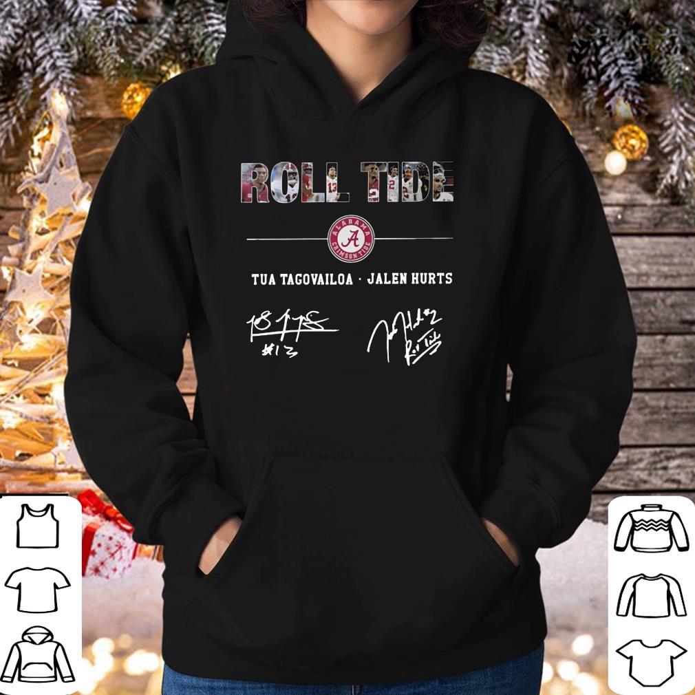 Hot Alabama Roll Tide Signature Tua Tagovailoa Jalen Hurts shirt 4 - Hot Alabama Roll Tide Signature - Tua Tagovailoa, Jalen Hurts shirt