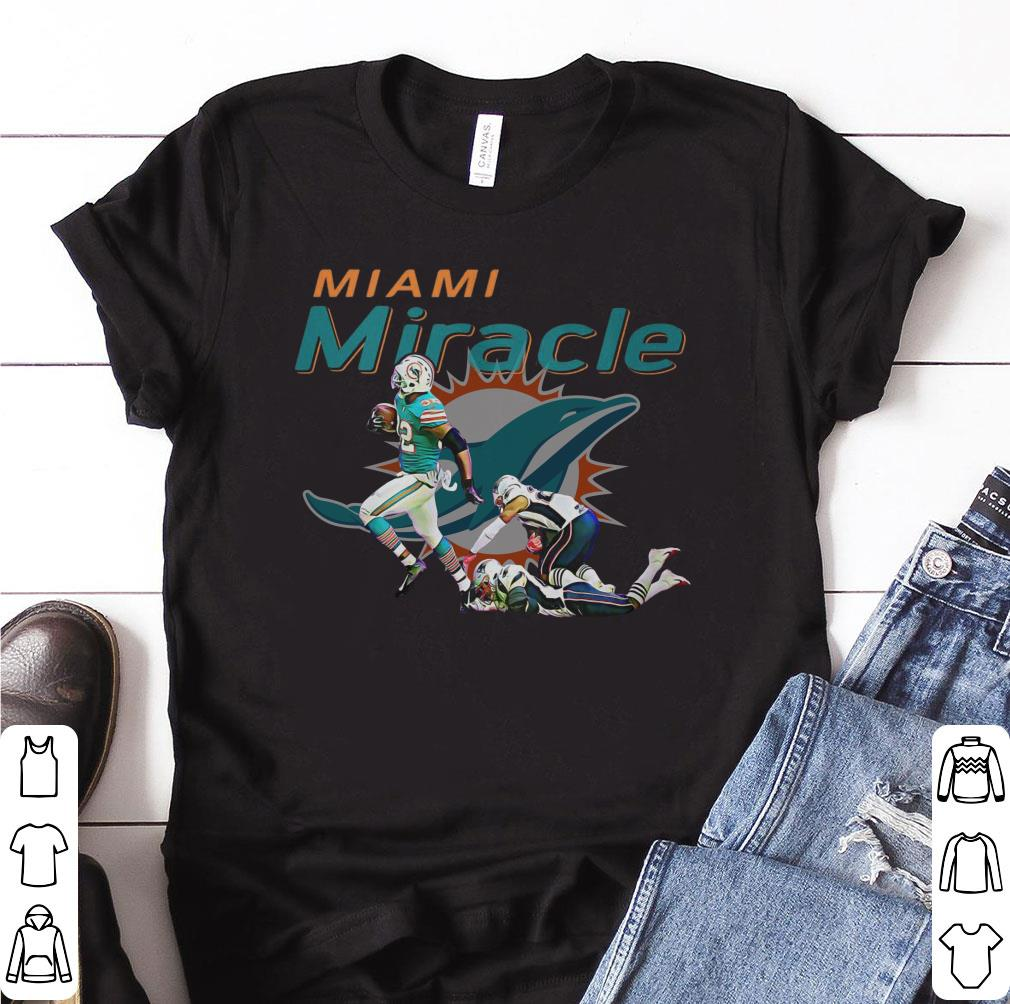 Nice The Miami Miracle: Kenyan Drake Beats The Patriots shirt