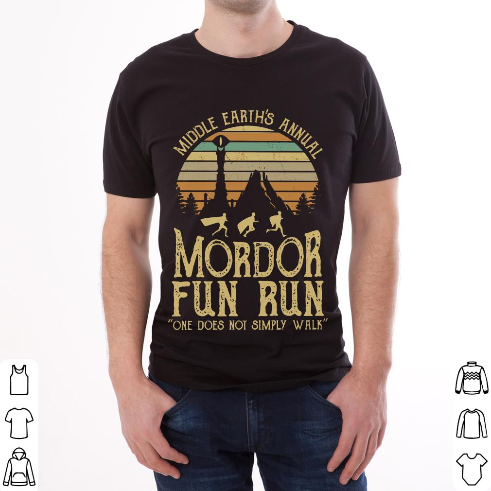 7b980da8 Official Sunset middle earth's annual mordor fun run one does not simply  walk shirt