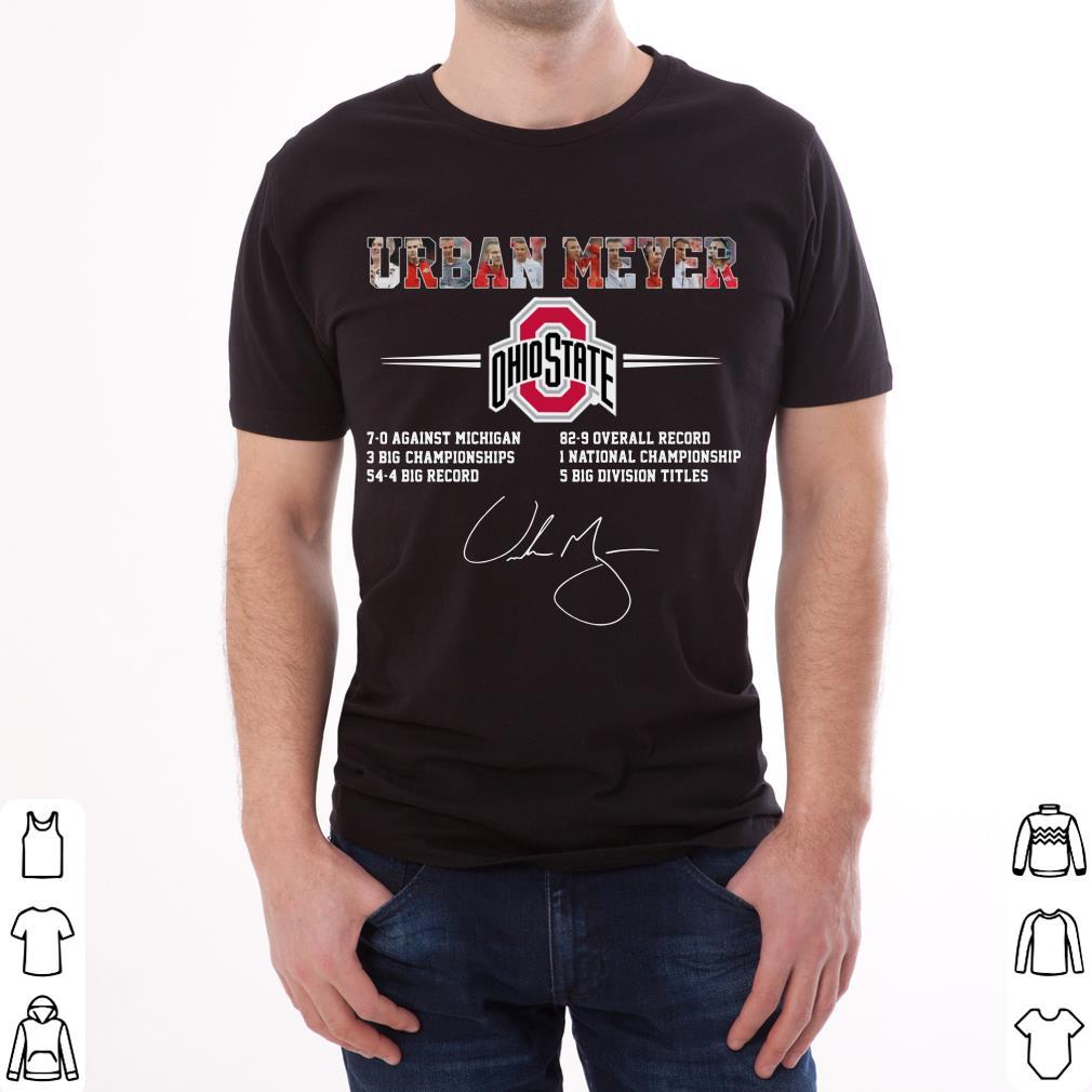 Original Ohio State Urban Meyer Signature shirt