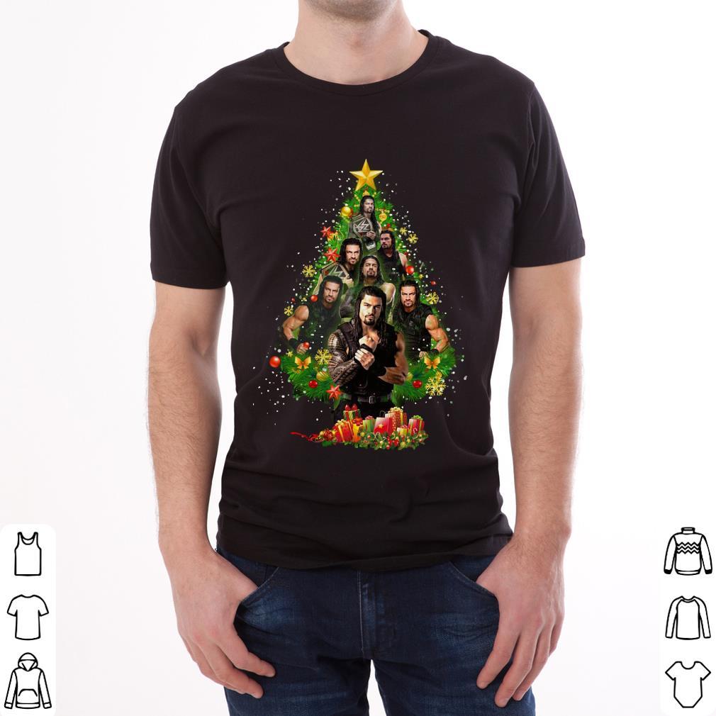 Pretty Roman Reigns Christmas Tree Shirt 2 1.jpg