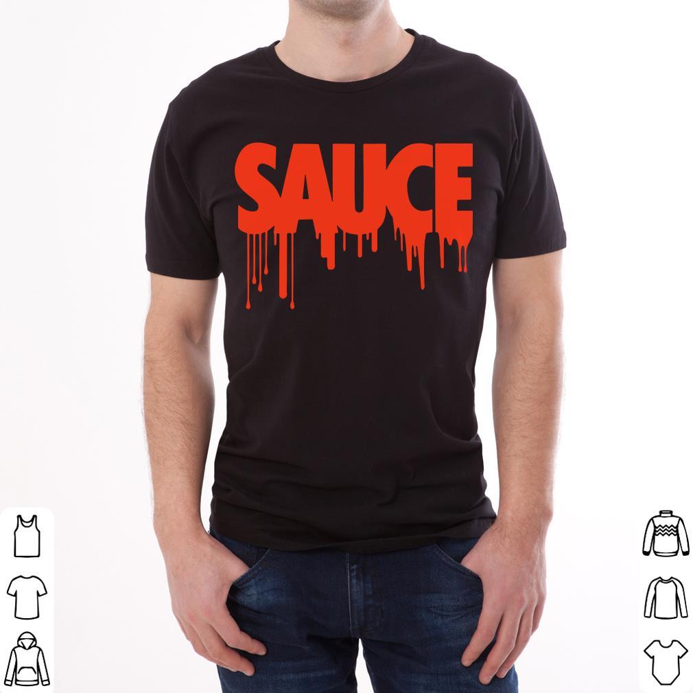 Pretty Sauce Text Bleed Style shirt
