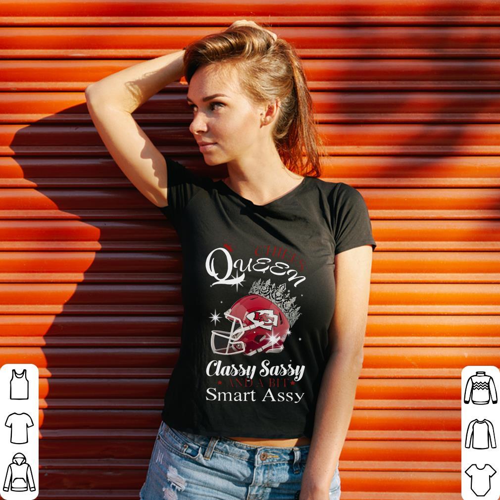 Pretty Kansas City Chiefs queen classy sassy and a bit smart assy shirt
