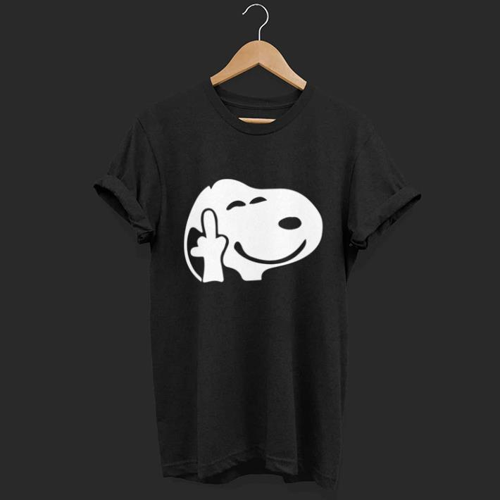 Snoopy middle finger kid copy shirt