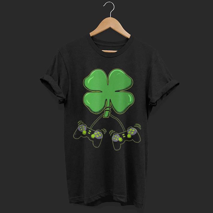 Video Gamer Clover Controller St Patricks shirt