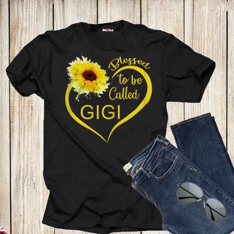 Blessed To Be Called Gigi Sunflower Shirt