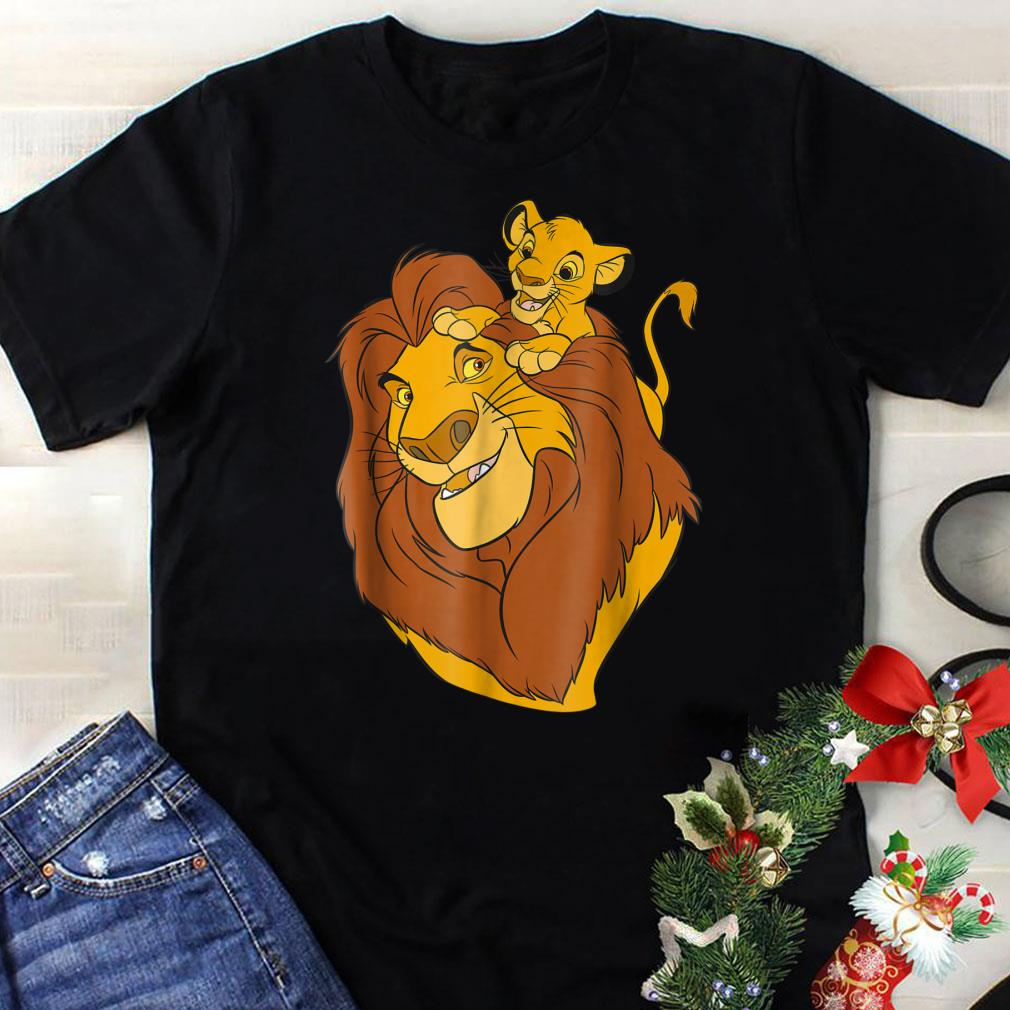 6e5711f7 Funny Disney The Lion King Simba and Mufasa Father and Son Dad day shirt