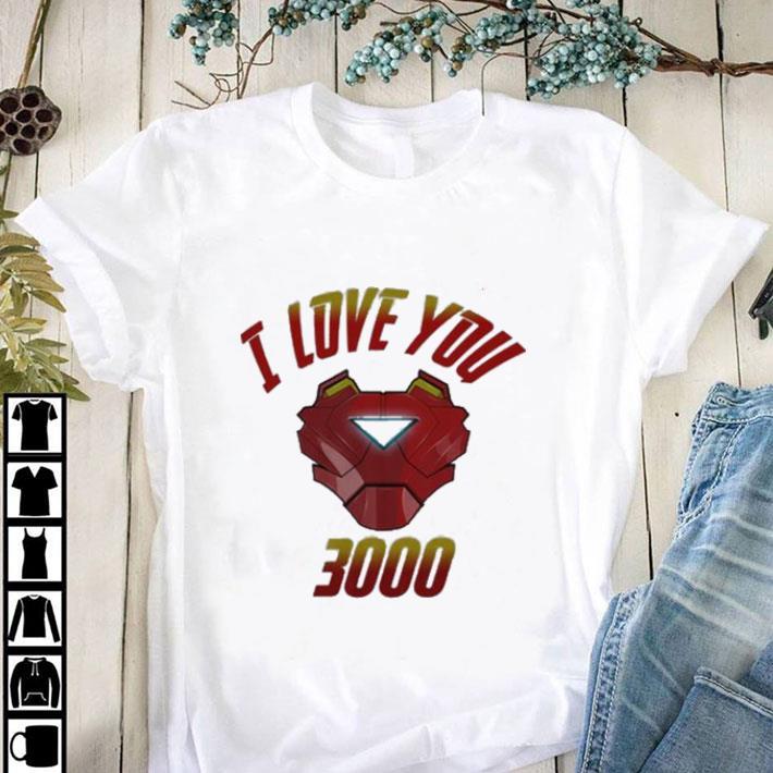 Tony Stark T-Shirt Iron Man I Love You 3000 Endgame Summer Short Sleeve Shirts