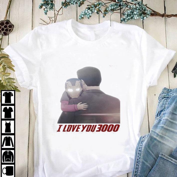 Nice Iron Man Morgan Stark I Love You 3000 shirt