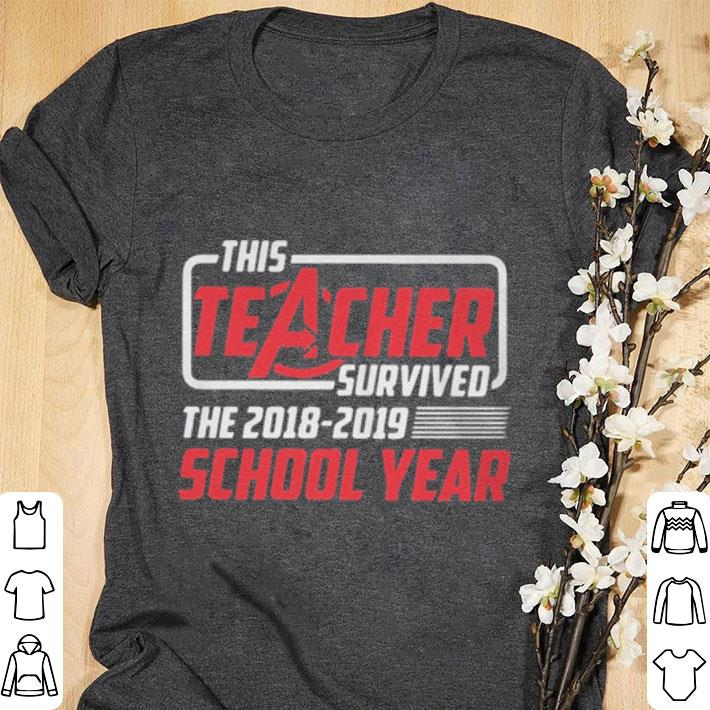 Nice Marvel Avengers This teacher survived the 2018-2019 school year shirt