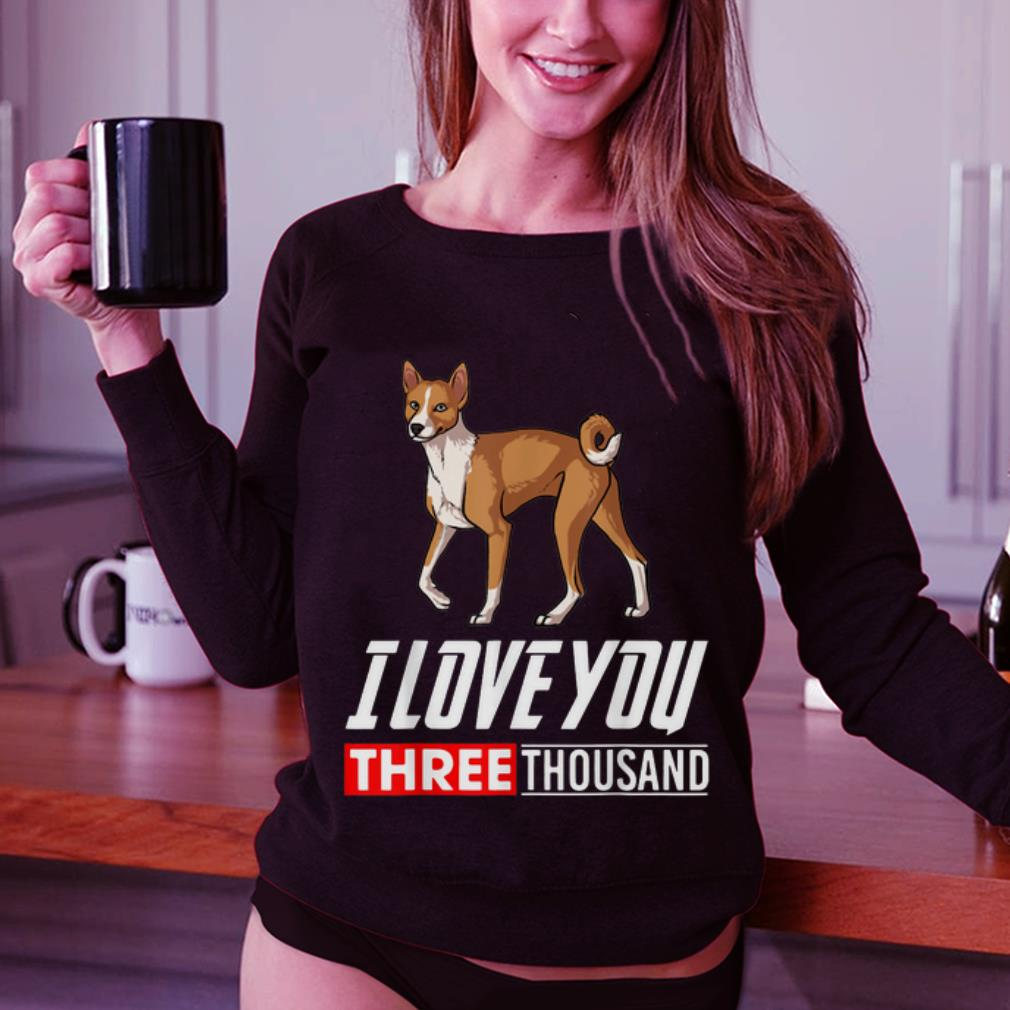 Original Basenji Dog I Love You 3000 shirt