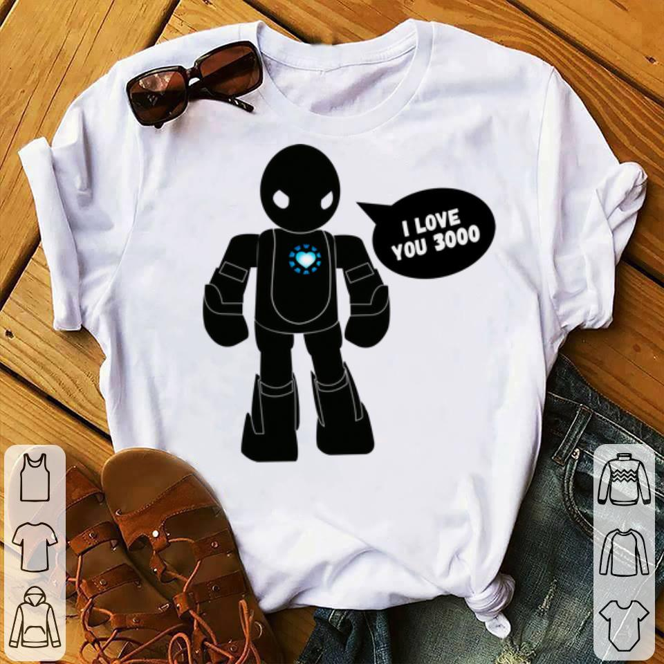 Original Father day I Love You 3000 Scifi Robot shirt