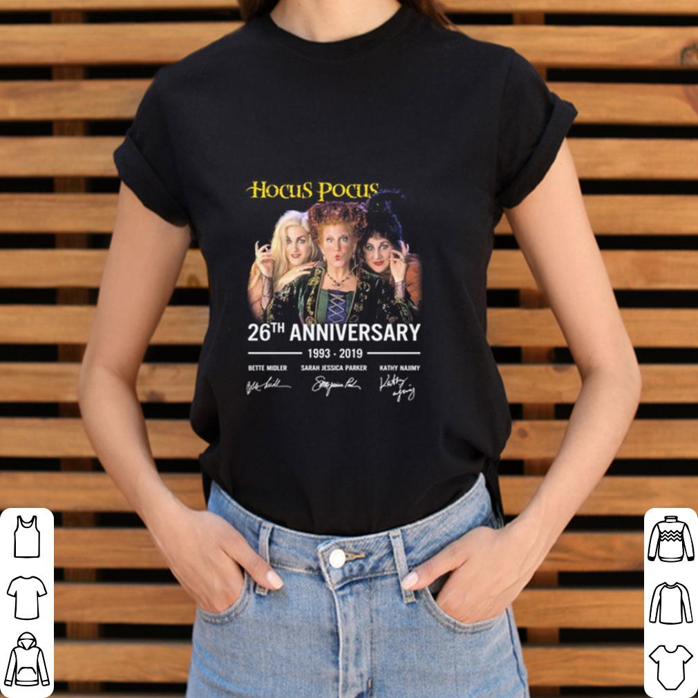 Original Hocus Pocus 26th anniversary 1993-2019 signatures shirt
