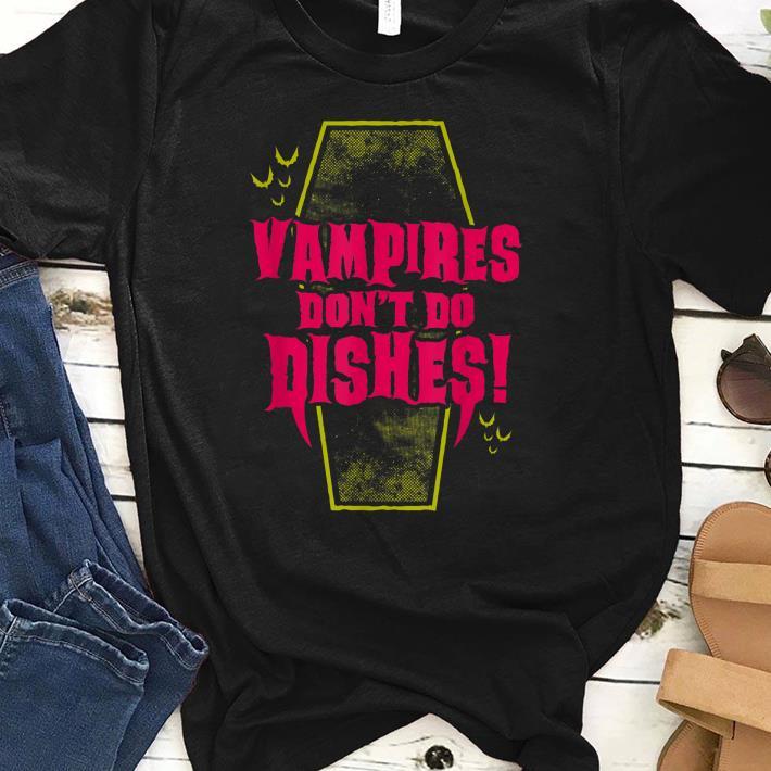 Original Vampires Don't Do Dishes Goth Coffin shirt