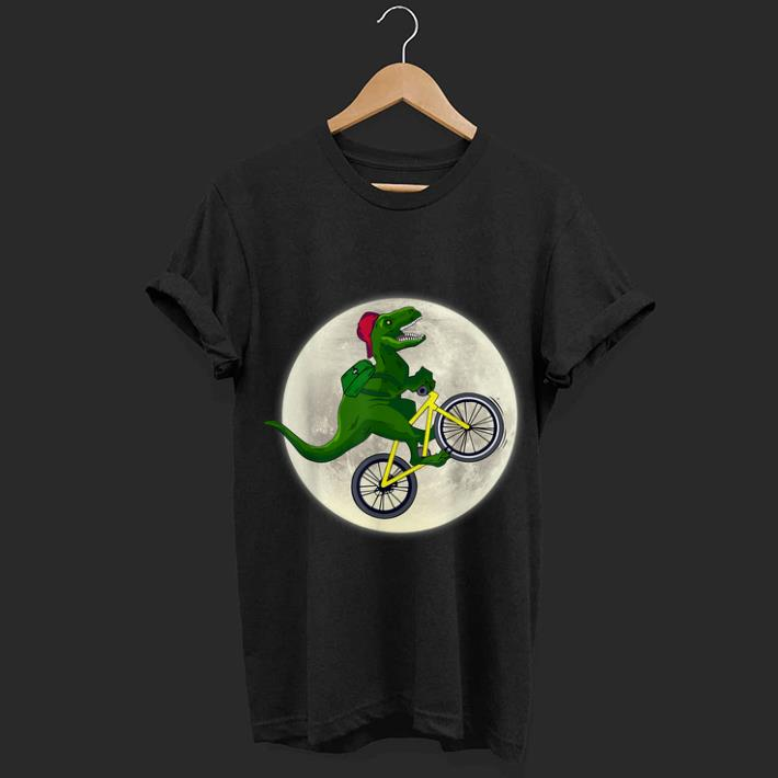 Premium Dinosaurs Ride Bicycles on the Moon Shirt
