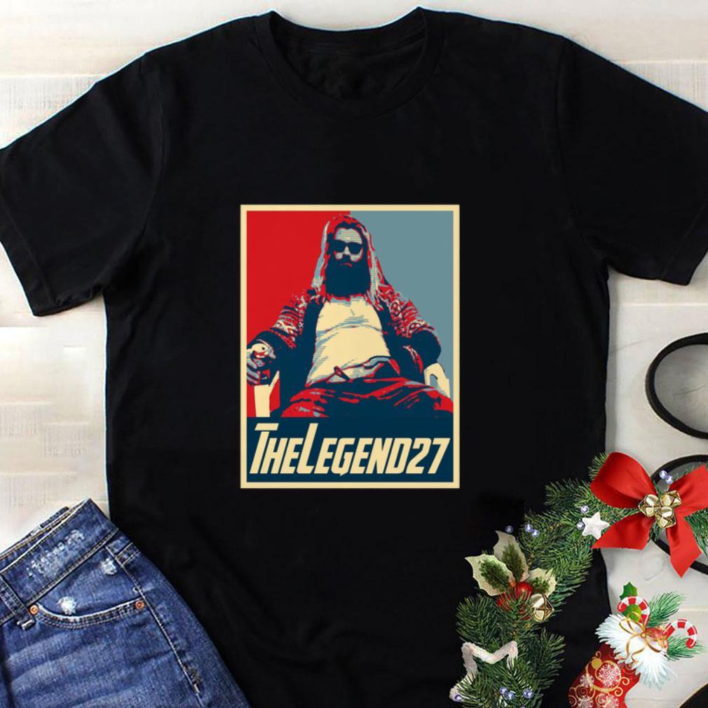Pretty Thor Fat The Legend 27 Avenger Endgame Vintage shirt 4 - Pretty Thor Fat The Legend 27 Avenger Endgame Vintage shirt