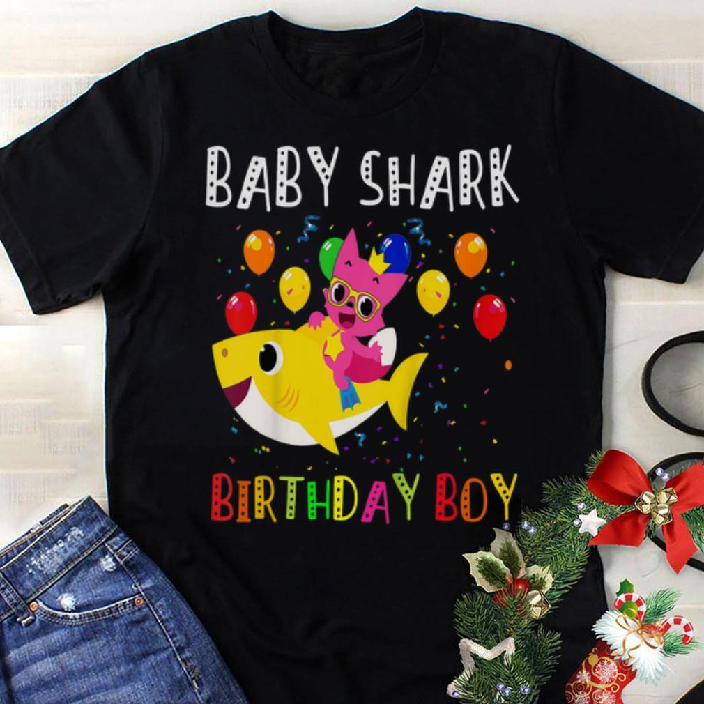 The best Baby Shark Birthday Boy shirt