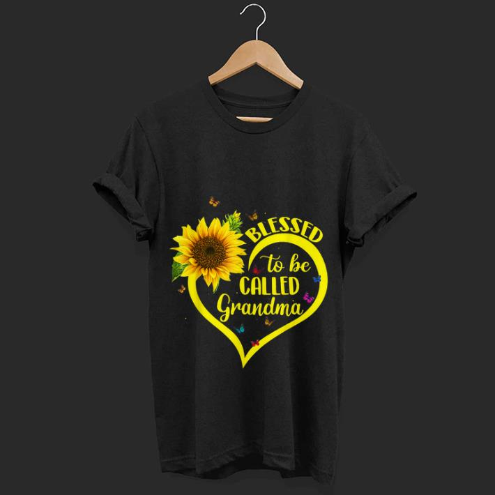 Top  Blessed To Be Called Grandma Sunflower Heart shirt