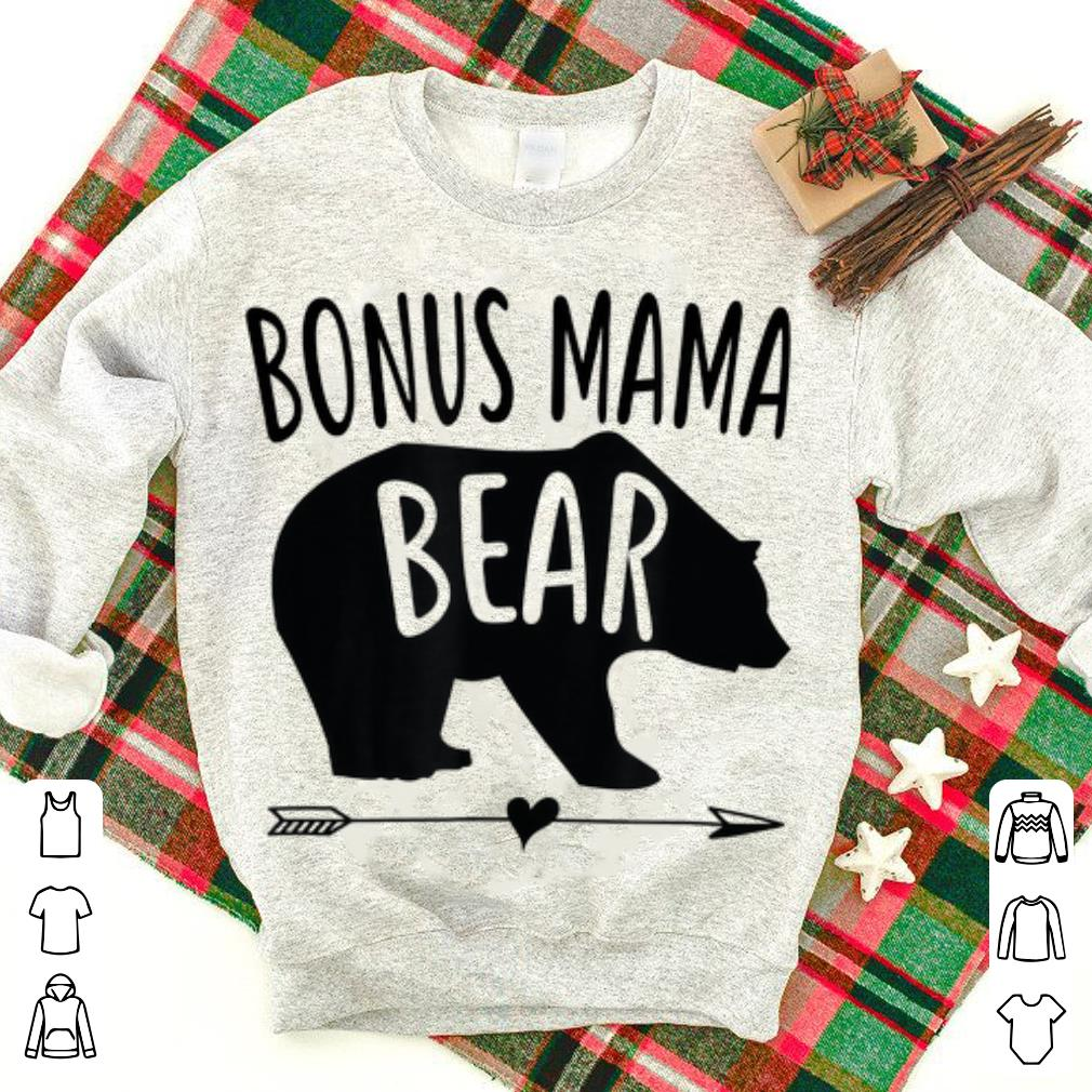 Top  Bonus Mama Bear Best Stepmom Mother's Day shirt