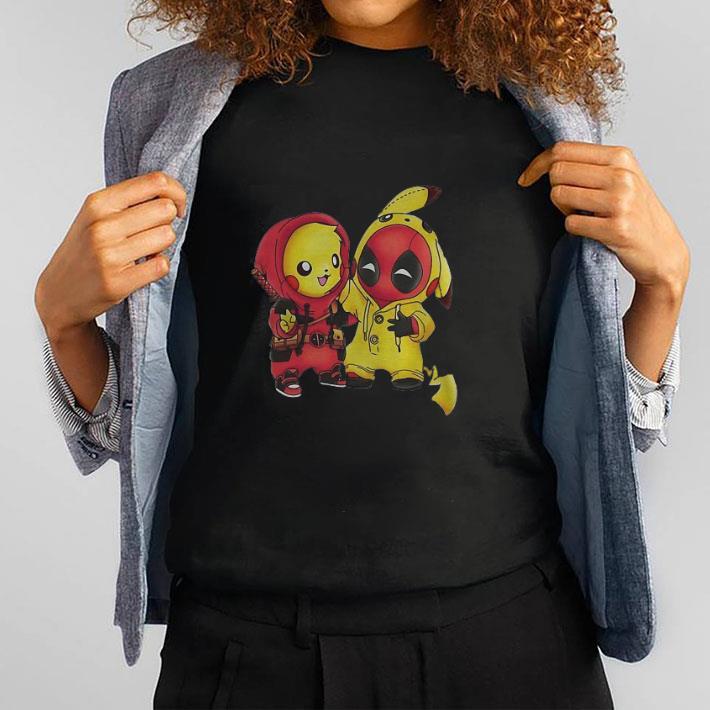 a073fb38 Top Funny Pokemon Pikachu and Deadpool shirt, hoodie, sweater ...