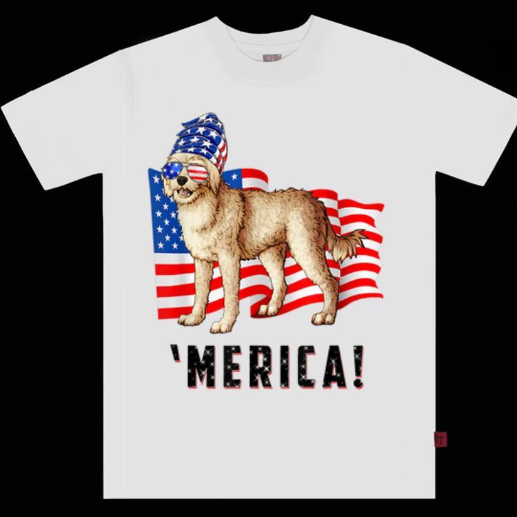 4th Of July Cockapoo Dog Merica Tee shirt 1 - 4th Of July Cockapoo Dog Merica Tee shirt