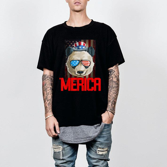 4th Of July Red Merica Panda Gift shirt