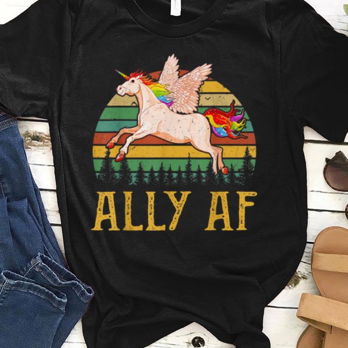 Ally Af Gay Pride Month LGBT Rainbow Unicorn sjirt 1 - Ally Af - Gay Pride Month - LGBT Rainbow Unicorn sjirt