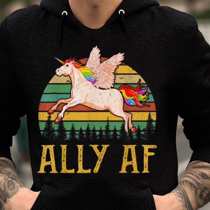 Ally Af - Gay Pride Month - LGBT Rainbow Unicorn sjirt