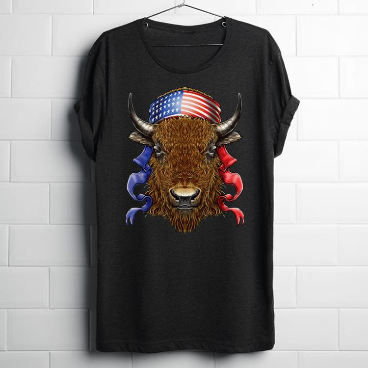 American Buffalo Bison Usa Flag 4th Of July Independence Day shirt
