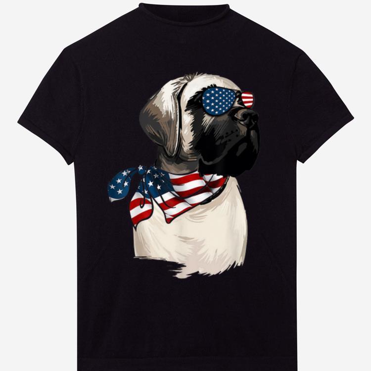 American Flag English Mastiff Patriotic 4th Of July shirt