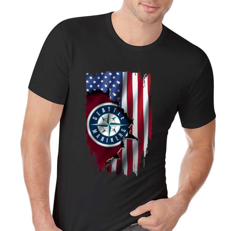 American Flag MLB Seattle Mariners