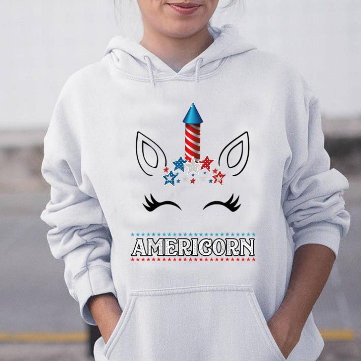Americorn Unicorn Face 4th Of July Gift Us Flag Star Merica sjirt