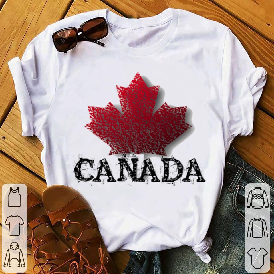 Canada Flag Maple Leaf Happy Canada Day shirt