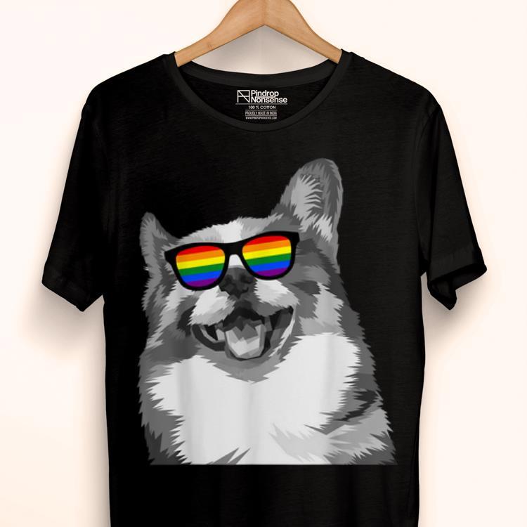LGBTQ Purride gay dog lesbian pride rainbow shirt
