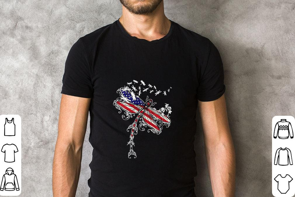Nice American flag Dragonfly 4th of july shirt