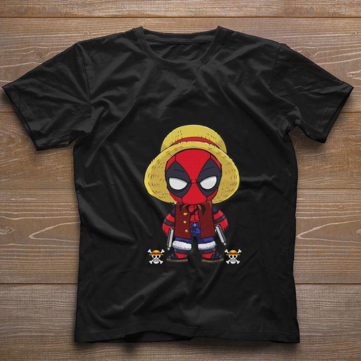 Nice Deadpool Luffy One Piece shirt