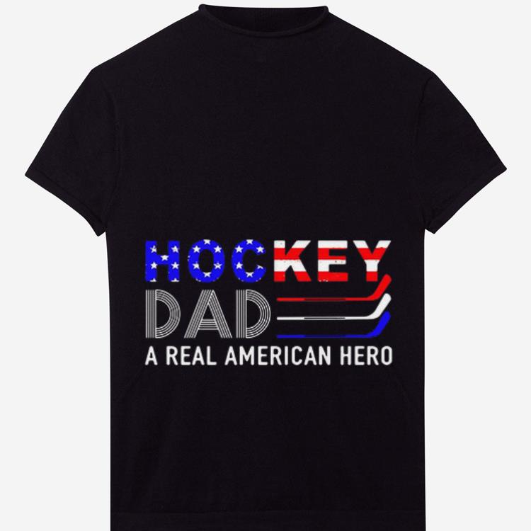 Official Hockey Dad A Real American Hero American Flag Shirt