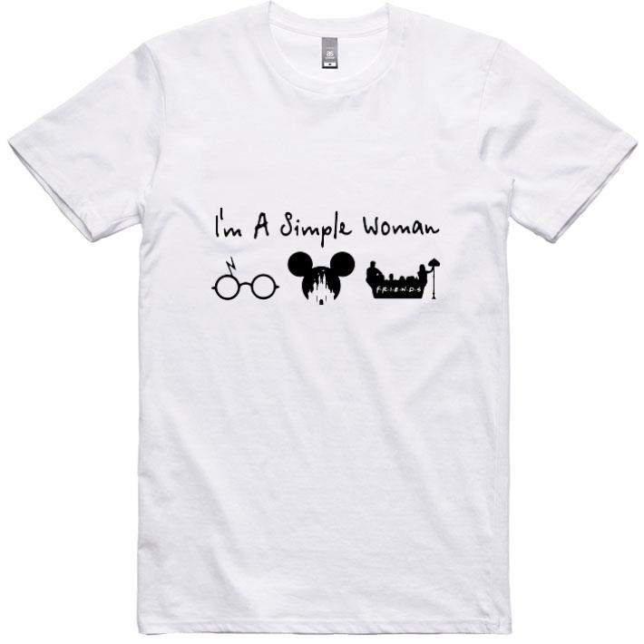 Official I'm a simple woman I like Harry Potter Disney and Friends shirt