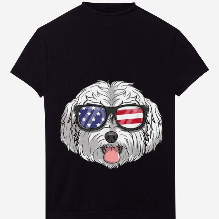 Official Maltipoo Dog Patriotic USA 4th Of July American Shirt