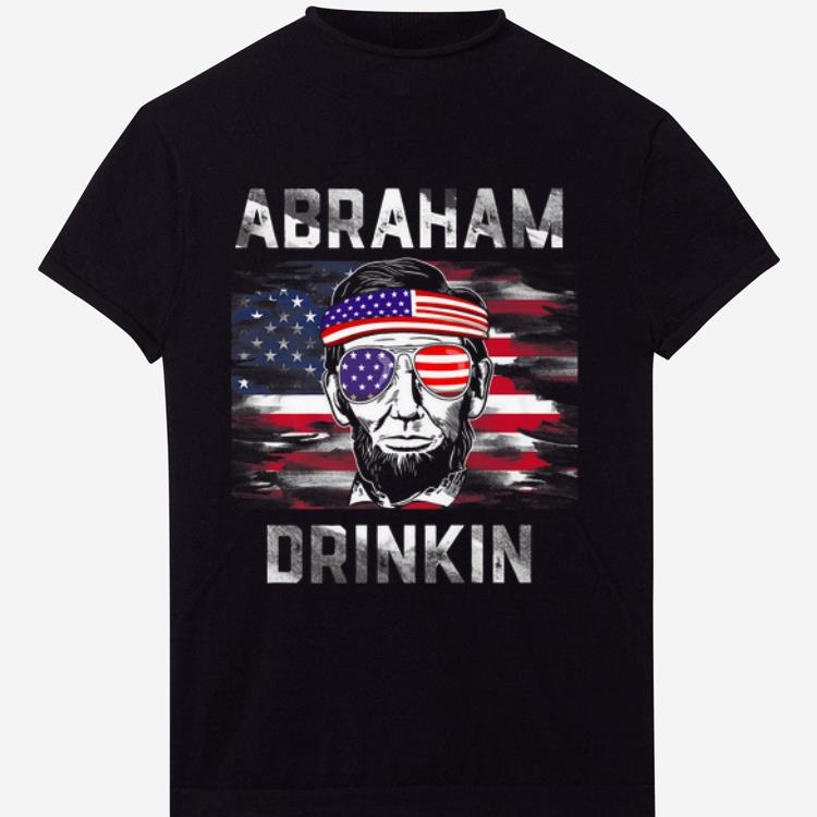 OfficialAbraham Drinkin Funny Abe Lincoln Merica USA July 4th Premium shirt
