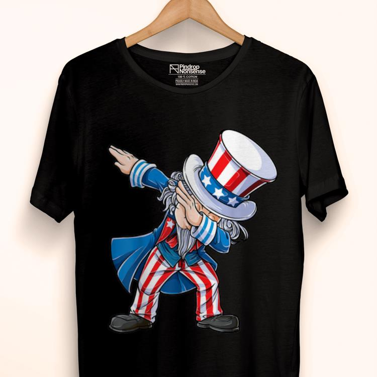 Original 4th Of Julys For Kids Dabbing Uncle Sam Boys Gifts Shirt