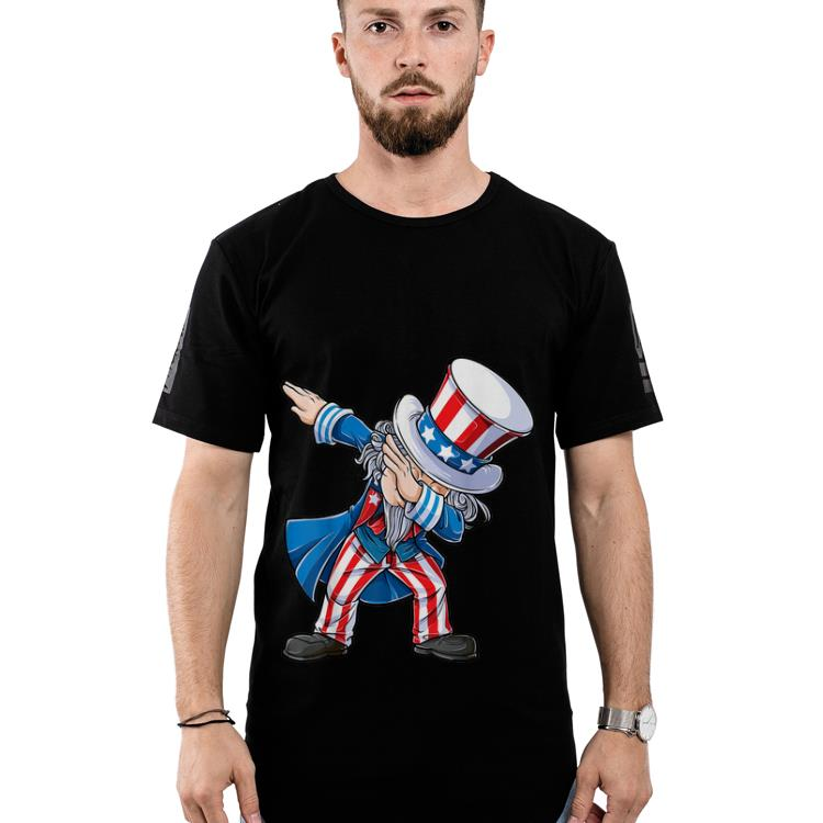 Original 4th Of Julys For Kids Dabbing Uncle Sam Boys Gifts Shirt